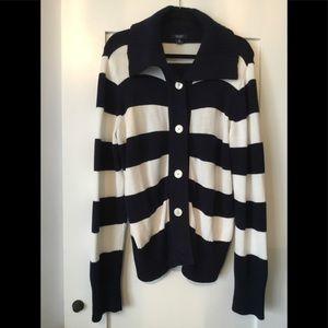 Chaps Navy & White Sweater